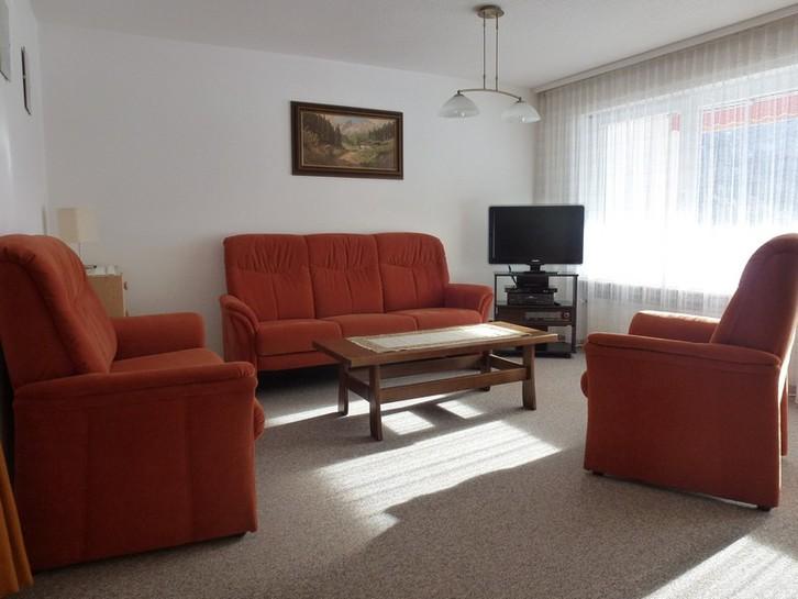 APPARTEMENTHAUS GEMMI, Renovierte, helle 2.5-Zimmerwohnung mit Balkon Süd und schöner Aussicht 3954 Leukerbad