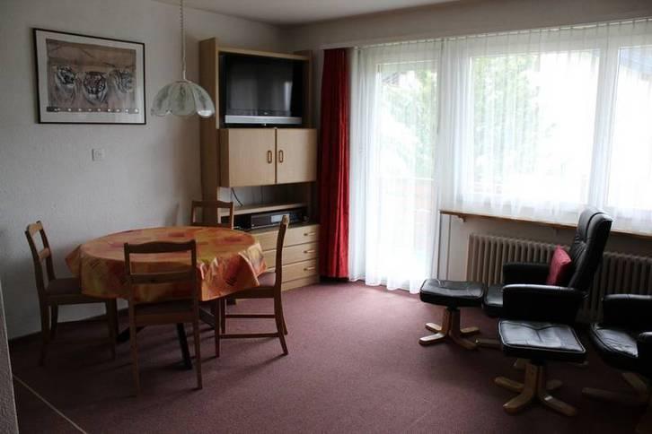 Apartmenthaus TOURBILLON, Studio mit Balkon und wunderbarer Sicht auf Leukerbad und die Alpen 3954 Leukerbad