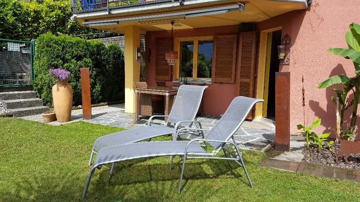 2.5 Zimmer-Gartenwohnung an sehr ruhiger Lage mit Seesicht und Whirlpool am Lago Maggiore / Tessin / Schweiz 2