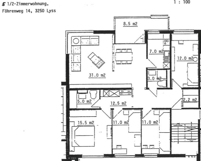 5.5 Zimmerwohnug in Lyss in ruhiger sonniger Lage 2