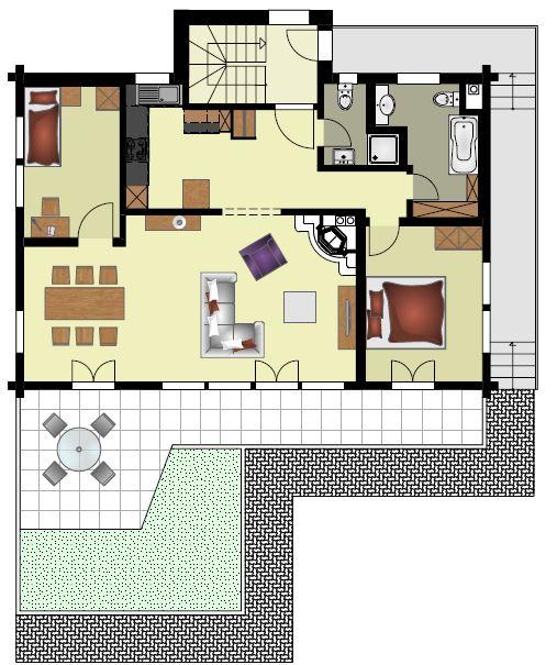 grosse, möblierte 3 1/ 2 Zimmer - Wohnung in Grindelwald 2