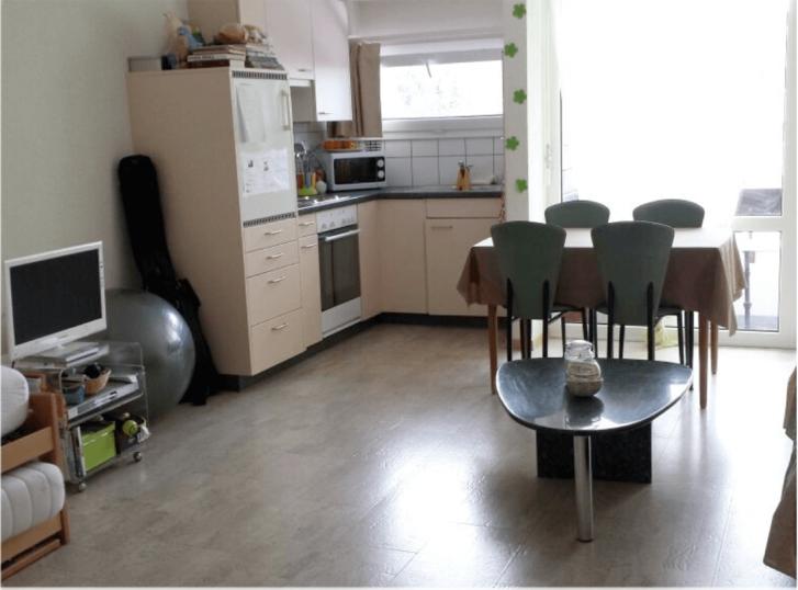 Komplett renovierte 1 1/2 Zimmerwohnung mit PARKPLATZ IN GARAGE, möbliert, Balkon Südlage & grossem Estrich & extra-langen Gesundheitsmatratzen  3954 Leukerbad
