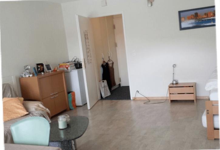 Komplett renovierte 1 1/2 Zimmerwohnung mit PARKPLATZ IN GARAGE, möbliert, Balkon Südlage & grossem Estrich & extra-langen Gesundheitsmatratzen  2
