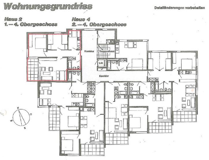 Engelberg (OW), neu renovierte 3 1/2 Zimmerwohnung  4