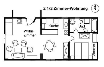 Grosse 21/2-Zimmer-Dachwohnung in Loco, Valle Onsernone, Tessin 2
