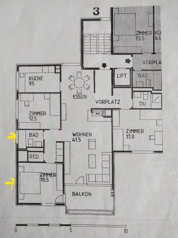 Zentrales Zimmer mit eigenem Bad Adliswil