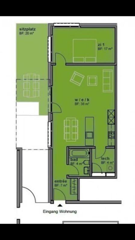 Moderne, grosszügige und helle Zimmer-Wohnung - perfekt für Singles oder Pärchen 2