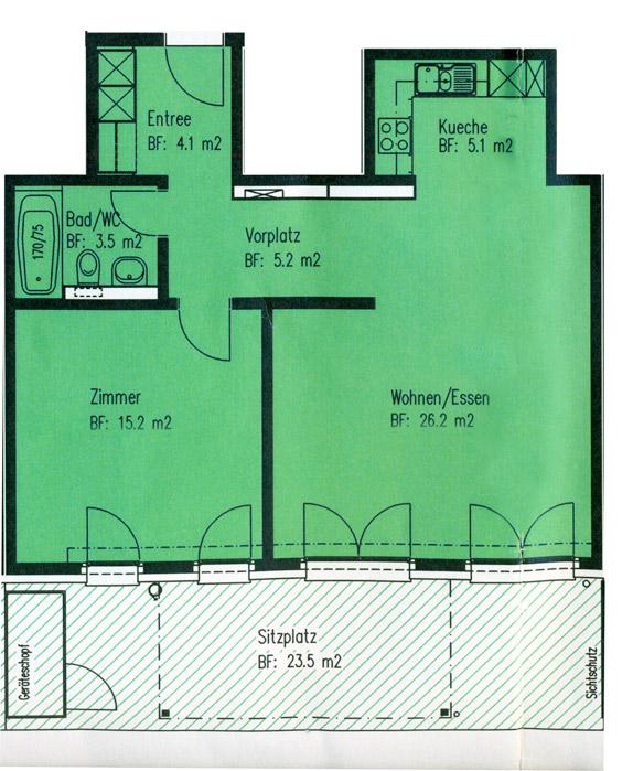 Helle und moderne 2.5-Zimmer Gartenwohnung 4