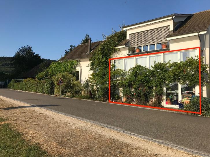 1,5 Zimmer-Wohnung (ev. Büro- oder Praxisräumlichkeit) mit Wintergarten und Blick in die Natur, teilmöbliert 2