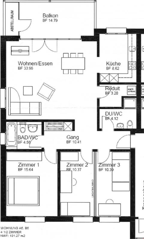 4.5-Zimmer-Wohnung in Rothrist zu vermieten 2