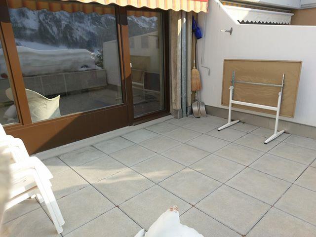 Lärchenwald: Renovierte, helle 1.5- Zimmerwohnung mit grosser Terrasse wunderschöner Blick auf Leukerbad und die Alpen 4