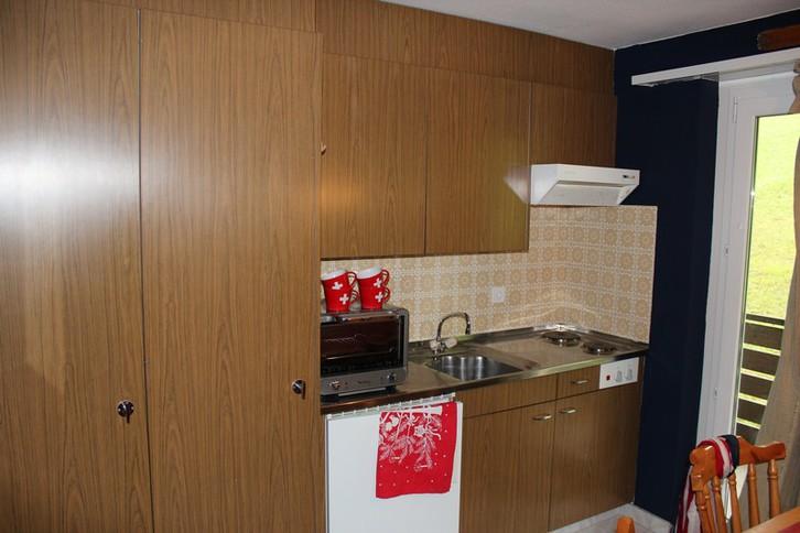 Haus Belair: Studiowohnung direkt neben der Skipiste Erli und Gemmibahn 3954 Leukerbad