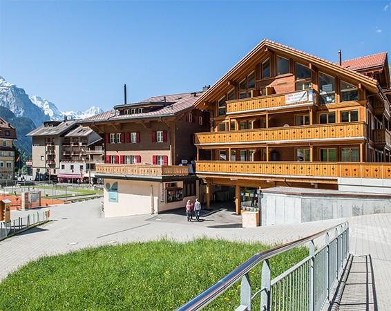 Wengen Haus Belmont: Exklusive 3.5-Zimmerwohnung im Zentrum direkt an der Talstation 3823 Wengen