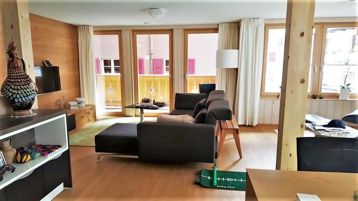 Wengen Haus Belmont: Exklusive 3.5-Zimmerwohnung im Zentrum direkt an der Talstation 2