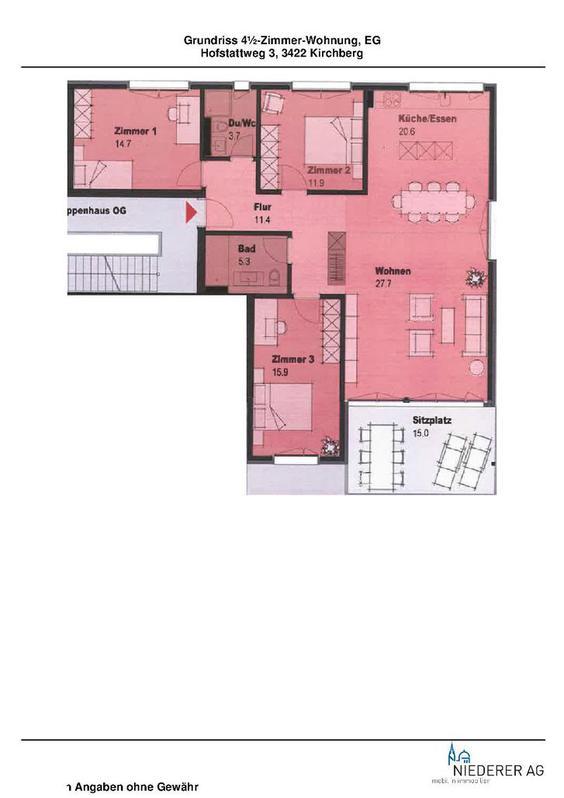 Neuwertige 4,5 Zimmer Wohnung an schöner Lage 2