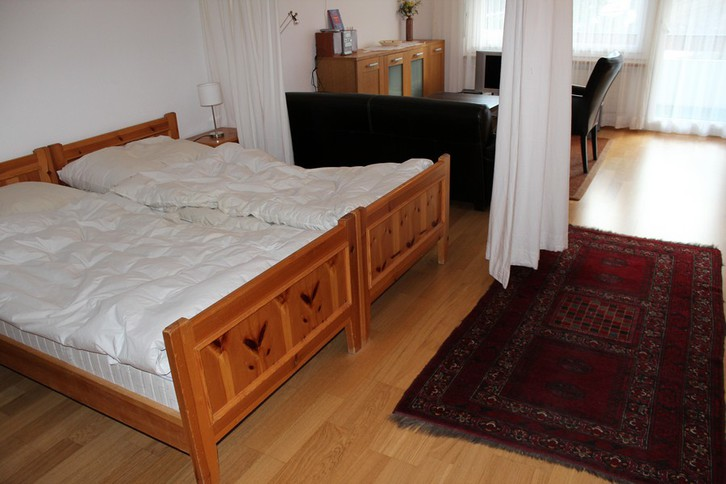 Baronesse: grosse, helle 1.5-Zimmerwohnung mit sehr schöner Aussicht und zusätzlichem Zimmer 2