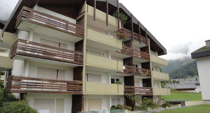 Appartementhaus Pfeiren: helle, gepflegte 3-Zimmerwohnung mit Südbalkon und super Aussicht 3954 Leukerbad