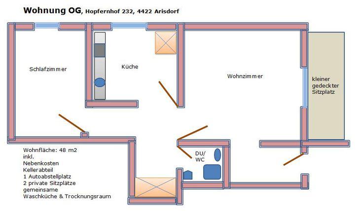 gemütliche 2 Zimmer Wohnung auf Bauerhof 4422 Arisdorf