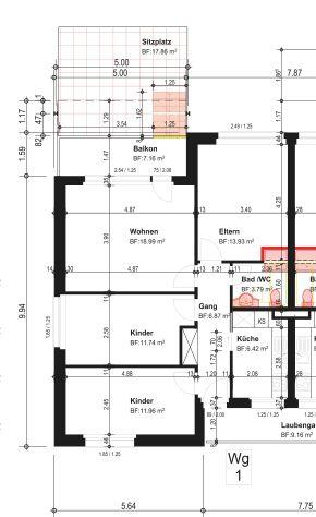 Gepflegte 4-Zimmerwohnung mit Lift und grossem Balkon 2