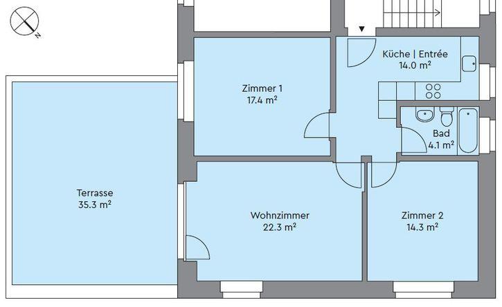 3.5 Zimmer Terassenwohnung in Neuaffoltern 8046 Zürich