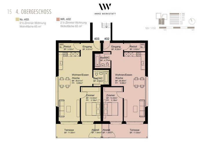 2.5 Zimmerwohnung in Kloten (Nr. 403) 4