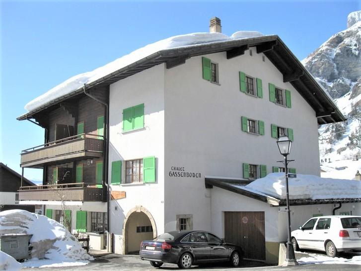Haus GASSENBODEN 3.5-Zimmerwohnung im Zentrum mit Balkon 3954 Leukerbad