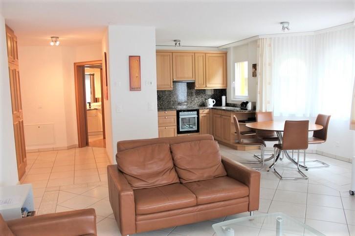 RESIDENZ EDELWEISS, exklusive 3.5 Zimmerwohnung DE LUXE mit Cheminèe und grossem Balkon Südost 3954 Leukerbad