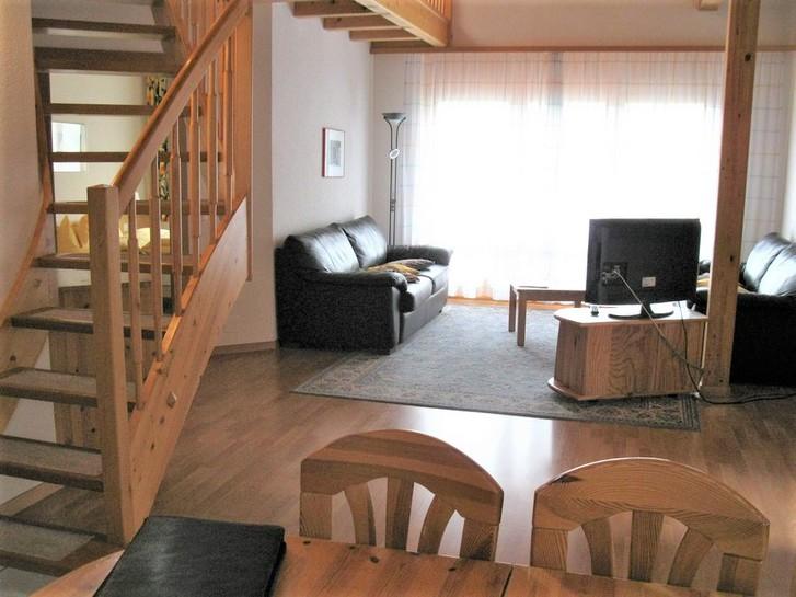 Residenz LES NATURELLES, Penthousewohnung, sehr gepflegt und gemütlich, hoher Ausbaustandard, Galerie, Südbalkon 3954 Leukerbad