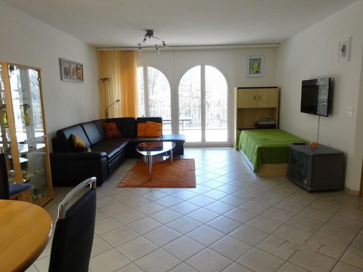 Residenz AL PONTE, exklusive 2.5-Zimmer-Eckwohnung DE LUXE mit sehr grosser Terrasse und wunderschöner Aussicht 3954 Leukerbad