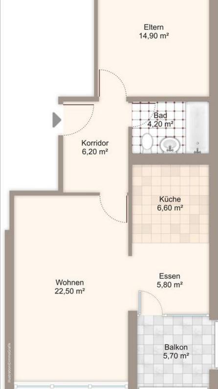 Exklusive 2.5-Zimmer-Wohnung in Seenähe 2