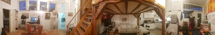 1 Zimmer in grossem Atelier direkt an der Tramhaltestelle Berninaplatz 3