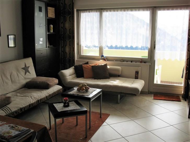 APPARTEMENTHAUS TSCHAL helle, zentrale 1.5-Zimmerwohnung, Südbalkon mit schöner Aussicht 3954 Leukerbad