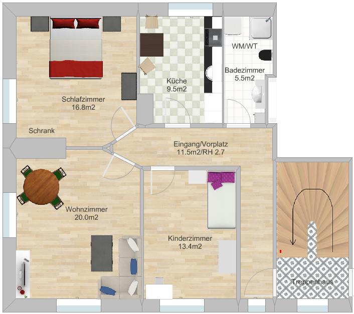 Grosse und helle 3-Zimmerwohnung 3454 Sumiswald