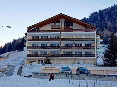 Grosse 3.Haus Catherina, 5-Zimmerwohnung in bester Lage Balkon mit wunderschöner Aussicht 3954 Leukerbad