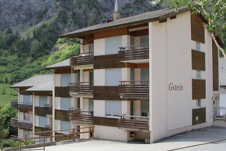 Haus Gstein, Renovierte 2.5-Zimmerwohnung mit Balkon nach Osten 3954 Leukerbad