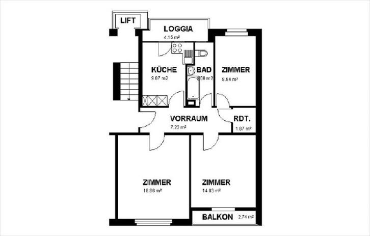 Gemütliche 2.5-Zimmer-Stadtwohnung mit Balkon! 3