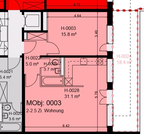 2 Zimmer Wohnung im Gellert mit grossem Balkon ins Grüne 4052 Basel