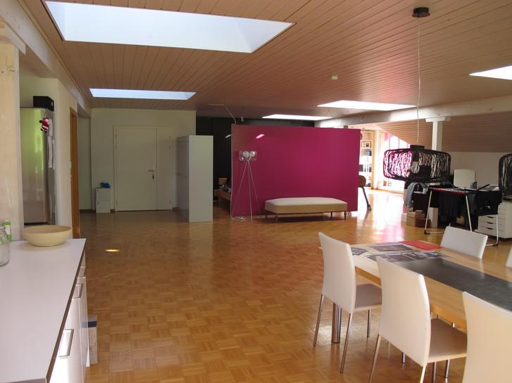 Helle 1-Zimmer Loft-Wohnung ca 150m2 9033 Untereggen
