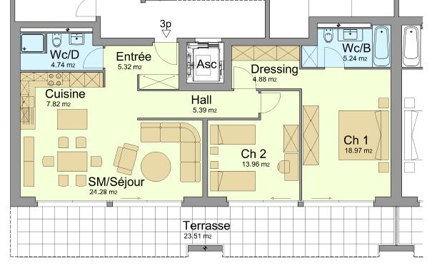 3 1/2 Zimmer Wohnung in Granges VS 3977 Granges