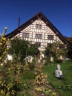 Lauschige 4 1/2 Zimmer Wohnung in Fachwerkhaus in Maugwil / Nähe Wil 9552 Bronschhofen