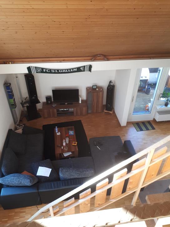 Wg zimmer in möbelierte maisonette dach wohnung 2 stöckig (4.5 zimmer wohnung)  3