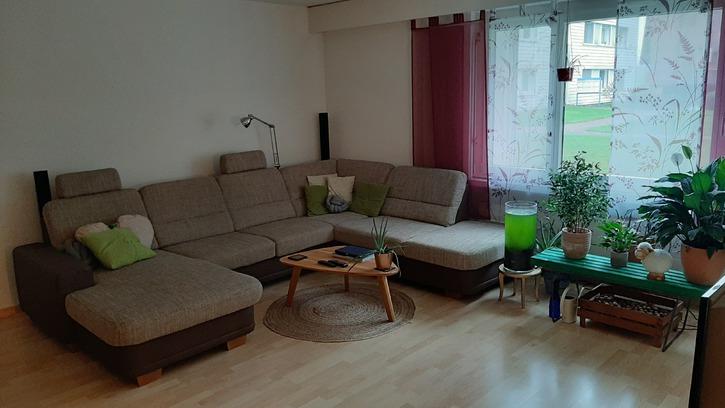 Möblierte 3 ½-Zimmer-Wohnung mit Gartensitzplatz und Autoeinstellplatz, befristet von April bis Juli 2020 2