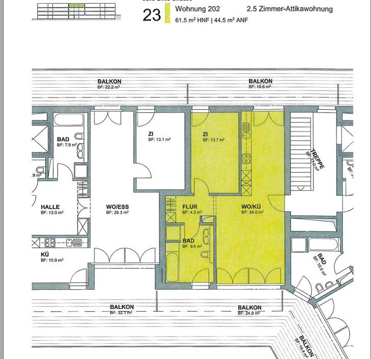 Neue, sehr helle 2.5Z Attikawohnung in ruhigem Quartier 8406 Winterthur
