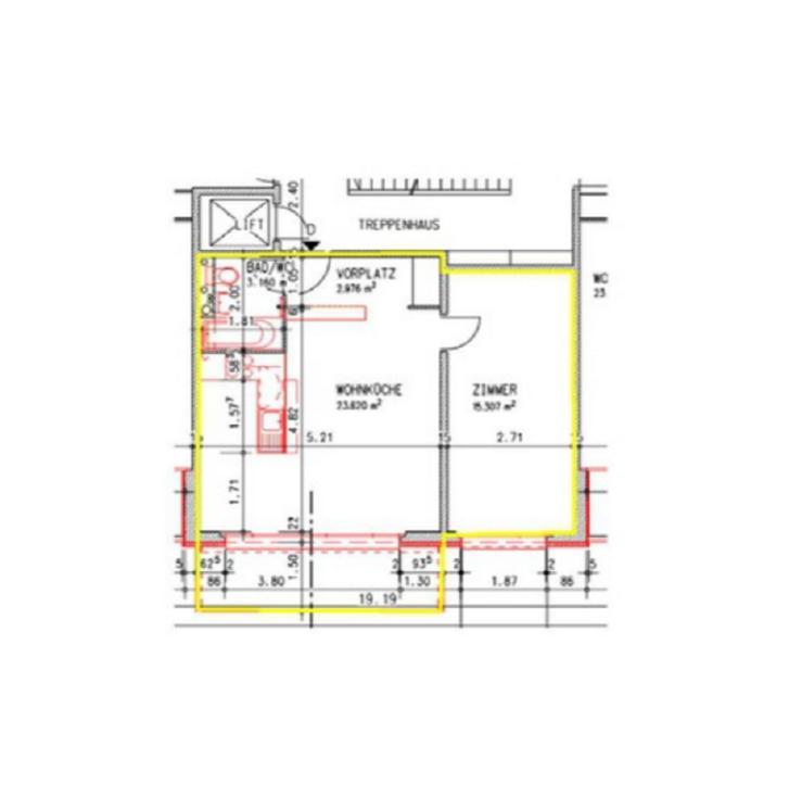 Moderne 1.5-Zimmerwohnung im 3.OG! 3
