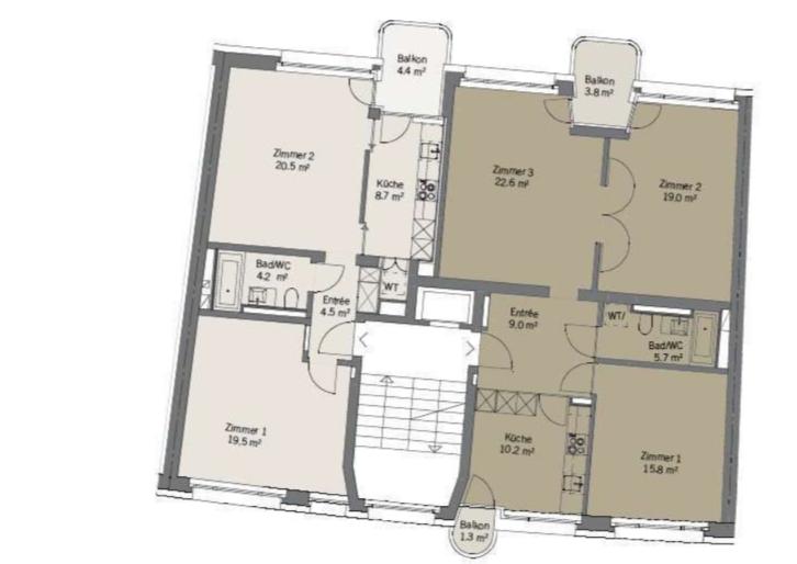 Charmante und ruhig gelegene 2.5-Zimmerwohnung !! 3