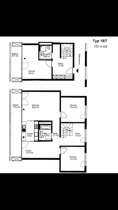 schöne 4.5 Maisonette-Wohnung sucht Nachmieter 3