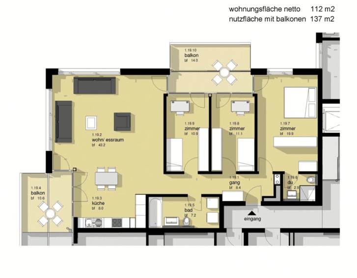 Steuergünstige 4.5 Zimmer Wohnung mit Seesicht 8852 Altendorf