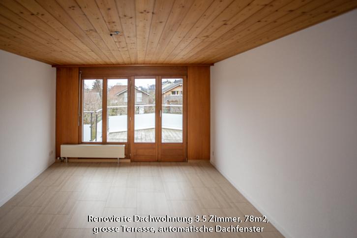 3 1/2 Zi-Dachwohnung hell, renoviert ohne Teppiche 2