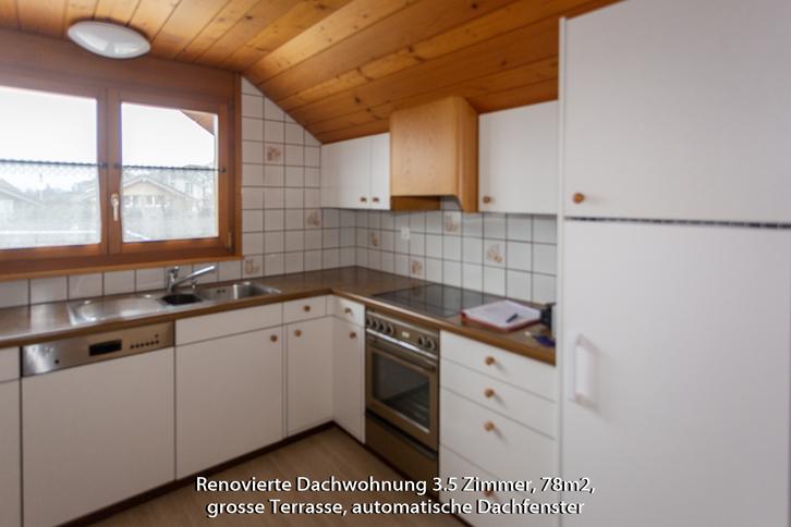 3 1/2 Zi-Dachwohnung hell, renoviert ohne Teppiche 3