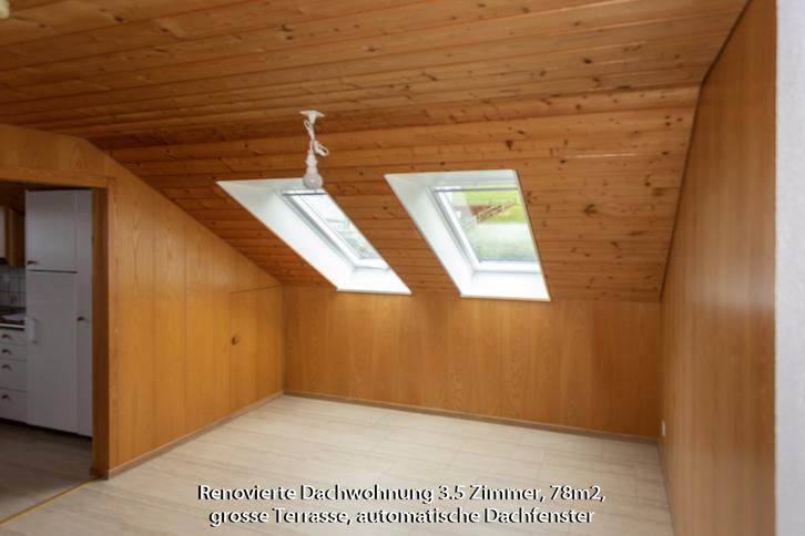 3 1/2 Zi-Dachwohnung hell, renoviert ohne Teppiche 4